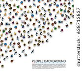 big people crowd on white... | Shutterstock .eps vector #638713837