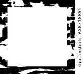 grunge black white square... | Shutterstock .eps vector #638718895