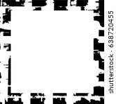 grunge black white square... | Shutterstock .eps vector #638720455