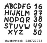 hand drawn letters and numbers...
