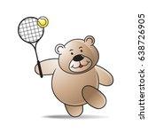 happy cartoon bear playing...   Shutterstock .eps vector #638726905