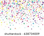 festive colorful triangle... | Shutterstock .eps vector #638734009