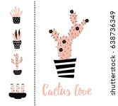 vector set of illustration of... | Shutterstock .eps vector #638736349