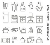 kitchen icons set | Shutterstock .eps vector #638737525