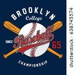 baseball sport graphic | Shutterstock .eps vector #638745574