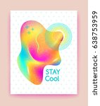 stay cool quote. futuristic... | Shutterstock .eps vector #638753959