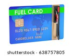 fuel card with gas pump nozzle  ...   Shutterstock . vector #638757805