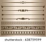 decorative elements. design...   Shutterstock .eps vector #638759599