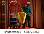 portrait of african bellboy... | Shutterstock . vector #638773261
