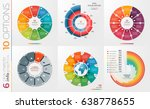 collection of 6 vector circle... | Shutterstock .eps vector #638778655