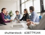 group of business people... | Shutterstock . vector #638779144