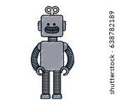 electric robot toy isolated icon | Shutterstock .eps vector #638782189