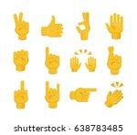 set of hands on white... | Shutterstock .eps vector #638783485