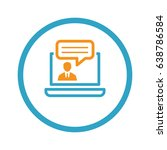 online consulting icon.... | Shutterstock .eps vector #638786584
