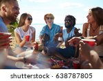 circle of happy young people... | Shutterstock . vector #638787805