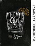 cocktail lettering tonic water  ... | Shutterstock .eps vector #638789527