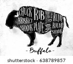 poster buffalo cutting scheme... | Shutterstock .eps vector #638789857