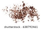 pile chopped  milled chocolate... | Shutterstock . vector #638792461