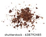 pile chopped  milled chocolate... | Shutterstock . vector #638792485