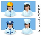 people icons : occupation female - stock vector