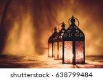 eid lamps or lanterns for... | Shutterstock . vector #638799484