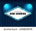 theater sign on curtain with... | Shutterstock .eps vector #638800039
