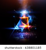 3d abstract background with... | Shutterstock . vector #638801185