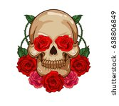 creative gothic skull with...   Shutterstock .eps vector #638806849
