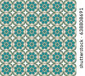seamless islamic pattern vector ... | Shutterstock .eps vector #638808691