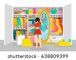 colorful fashion concept with... | Shutterstock .eps vector #638809399