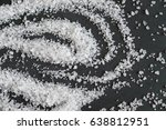 white crystals sea salt...   Shutterstock . vector #638812951