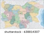 map of bulgaria   Shutterstock .eps vector #638814307