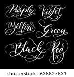colors and black hand written... | Shutterstock .eps vector #638827831