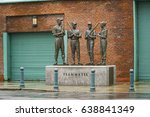 Bronze Statues Of Red Sox...