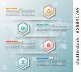 vector abstract 3d paper... | Shutterstock .eps vector #638841769