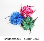 Artificial Flowers Isolated On...
