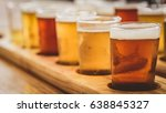 flight of beers | Shutterstock . vector #638845327
