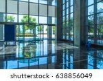empty hall in the modern office ... | Shutterstock . vector #638856049