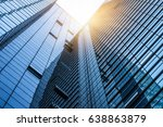 bottom view of modern office... | Shutterstock . vector #638863879