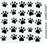 cat foots wallpaper background | Shutterstock . vector #638874487