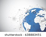 global network connection.... | Shutterstock .eps vector #638883451