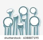 poverty stricken starving... | Shutterstock .eps vector #638887195