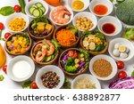 various kinds of salad | Shutterstock . vector #638892877
