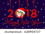 happy new year 2018 greeting... | Shutterstock .eps vector #638904727