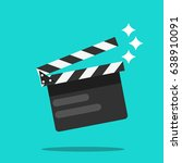 clapperboard vector illustration | Shutterstock .eps vector #638910091