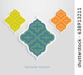 ramadan kareem design... | Shutterstock .eps vector #638913211