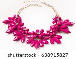 pink necklace fashion | Shutterstock . vector #638915827