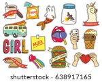 Set Of Fashion Cute Patches...