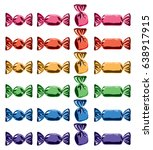 vector collection of colorful... | Shutterstock .eps vector #638917915