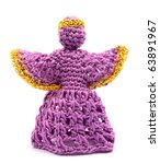 Purple Crochet Angel With A...